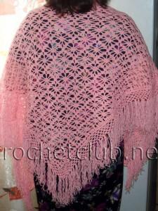Розовая и сиреневая шали