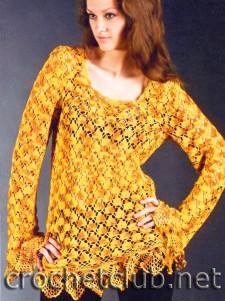 Меланжевый осенний пуловер