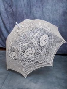 Зонтик, связанный крючком