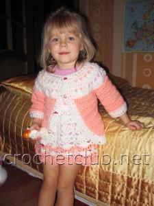 Платье и кофточка для девочки