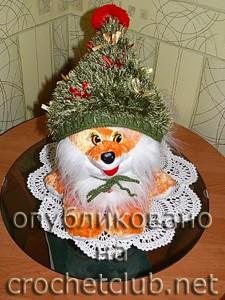 Новогодняя шапка-ёлка