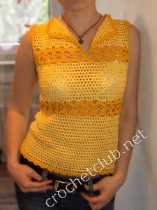 Желтая и черная летние кофточки
