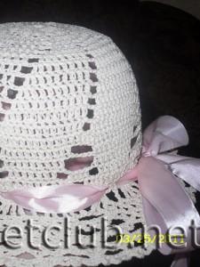 Вязаные крючком детские шляпки