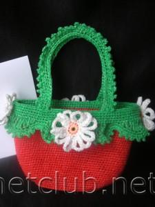 Маленькие сумочки-корзиночки для девочек