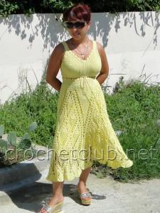 Летний желтый сарафан