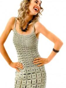 Золотистое мини-платье