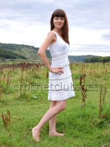 Белоснежное платье по мотивам работы Анны Костуровой