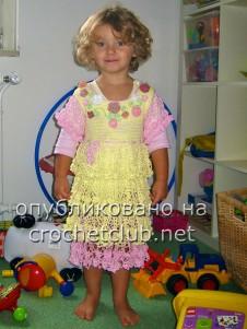 """Платье для девочки """"Цветочки и ажуры"""""""