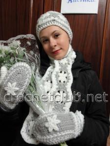 """Комплект """"Зимние цветы"""""""