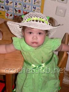 Детская летняя шляпка