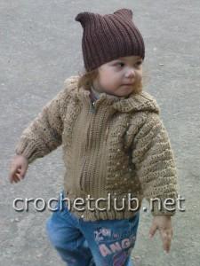 Детская вязаная курточка