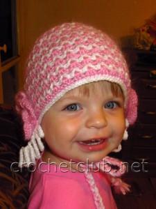 Двойная шапочка и шарфик крючком