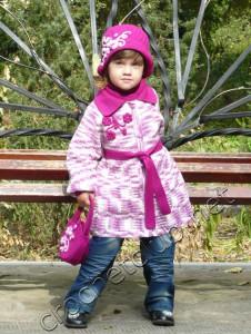 Пальто крючком для девочки
