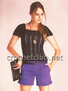 Женская футболка крючком