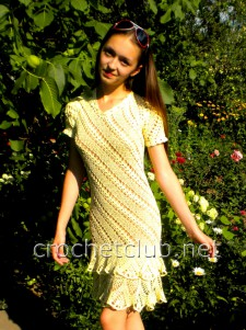 Платье с диагональным узором