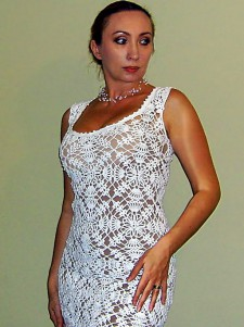 Платье крючком по мотивам Anthropologie