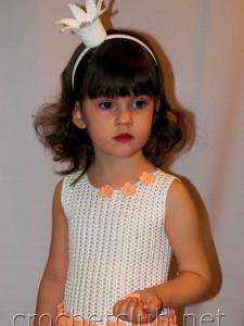 Вязаное платье для принцессы