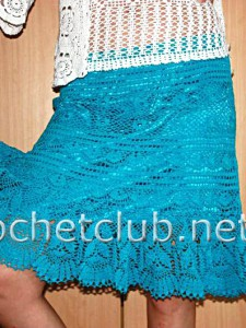 Вязаная крючком юбка