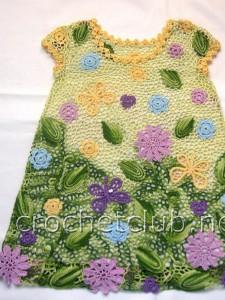 Платье для девочки 3 лет в ирландской технике