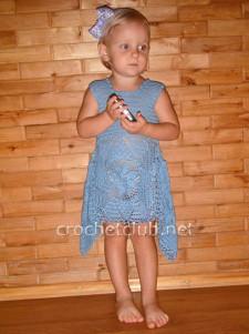 Летнее платье из салфеток