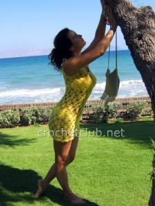 Пляжная туника крючком