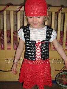 "Вязаный костюм ""Красная шапочка"""