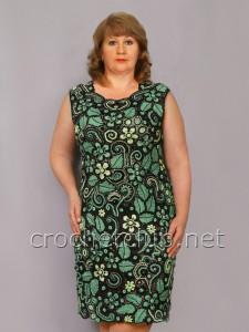Платье-футляр, связанное в технике ирландское кружево