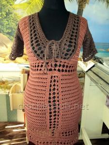 Вязаное облегающее платье