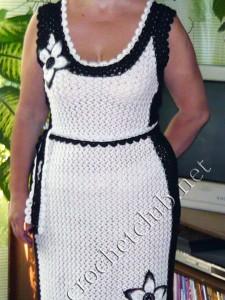 Платье white&black