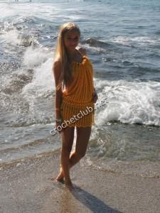 Пляжный сарафанчик на кулиске