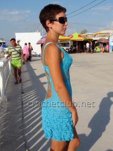 Пляжный сарафан крючком