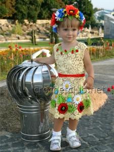 Детские платья в ирландской технике