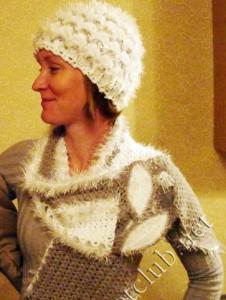 Двусторонняя шапочка и шарф