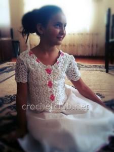 Вязание и ткань. Платье и воротник для кофточки