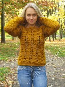 Пуловер цвета осени