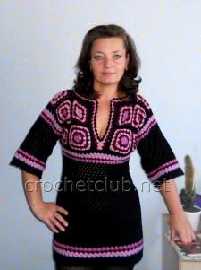 Пуловер с расклешенными рукавами