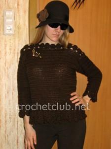 """Пуловер """"Горький шоколад"""""""
