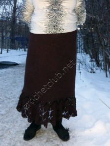 Тунисская юбка для пышных дам