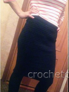 Вязаная юбка-миди