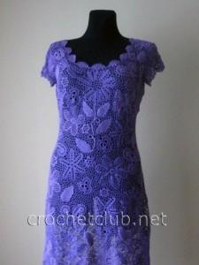 Фиалковое платье - ирландское кружево