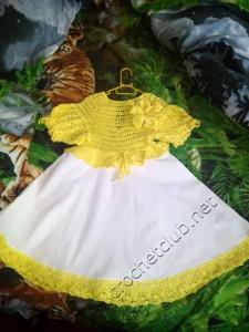 """Платье """"Лилия"""" - вязание и ткань"""