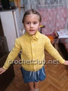 Кофточка крючком для девочки