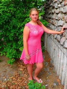 Платье, связанное по мотивам Vanessa Montoro