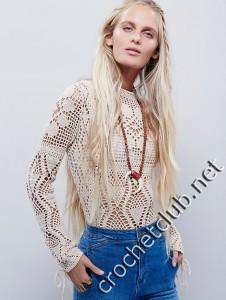 Пуловер крючком от Free People