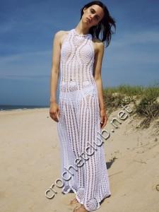 Платье крючком от Rosetta Getty