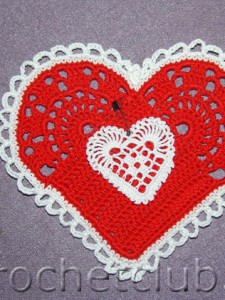 Вязаные сердечки-валентинки