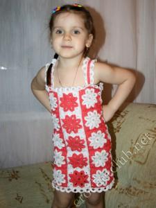 Детский сарафанчик из мотивов
