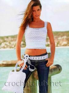 Белая маечка и сумочка