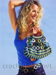 Вязаный пояс и сумочка с кольцами