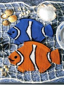 Вязаные рыбки-прихватки